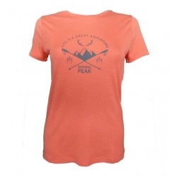 T-SHIRT FEMME GREAT ADVENTURE CORAIL