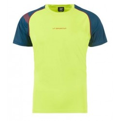 T-SHIRT DE TRAIL HOMME MOTION GREEN/OPAL